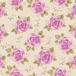 Vintage seamless pattern with watercolor roses — Stock Photo