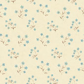 Vintage seamless pattern with watercolor flowers — Stock Photo