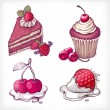 Royalty-Free Stock Vektorfiler: Vector illustrations of dessert