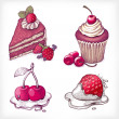 Royalty-Free Stock 矢量图片: Vector illustrations of dessert