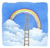 Watercolor illustration of rainbow — Stock Photo