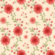 Seamless pattern with watercolor flowers — 图库照片