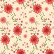 Seamless pattern with watercolor flowers — ストック写真