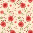 bezešvé vzor s květy, akvarel — Stock fotografie