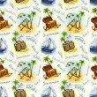 Seamless pattern with travel illustrations — Stock Photo