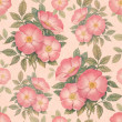 Watercolor dogrose illustration. Seamless pattern — ストック写真