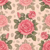 Seamless pattern with watercolor rose illustrations — Stock Photo