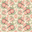 Watercolor dogrose illustration. Seamless pattern - Stock Photo