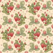 Watercolor strawberry pattern — Stock Photo