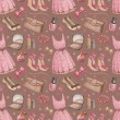 Seamless fashion pattern — Stock Photo