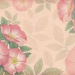 Artistic background with watercolor illustration of dog-rose — Stock Photo #27122599