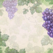 Artistic background with watercolor illustration of grapes — Stock Photo #27122625