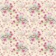 Vintage seamless pattern with watercolor flowers — Foto de Stock