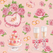 Stock Photo: Artistic seamless pattern. Watercolor wedding illustrations