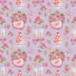 Seamless pattern with watercolor wedding illustrations — Stock Photo #27374609