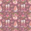 Artistic seamless pattern. Watercolor wedding illustrations — Stock Photo