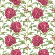Watercolor illustration of peony flowers. Seamless pattern — Stock Photo