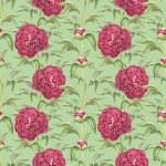 akvarell illustration av pion blommor. Seamless mönster — Stockfoto
