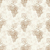 Seamless pattern with watercolor illustration of grapes — Stock Photo