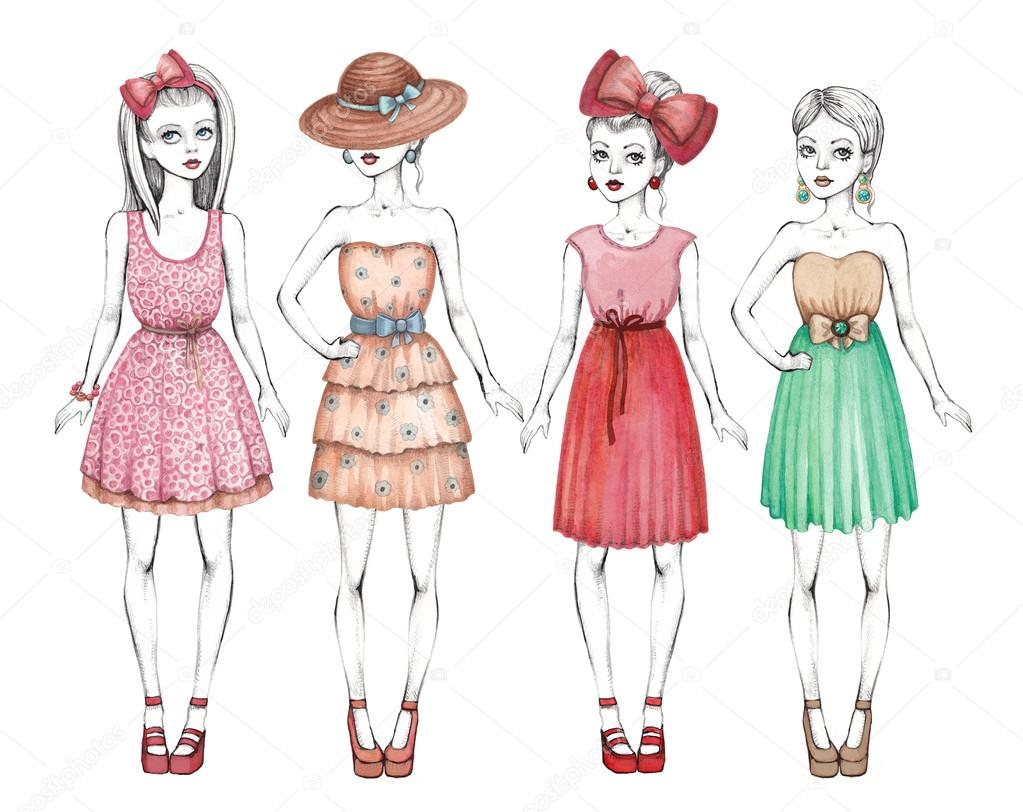 картинки девушек рисунки: