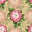 Vinage artistic seamless pattern with watercolor dog-rose illustration — Stock Photo #30817161