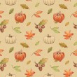 Autumn watercolor seamless pattern — Stock Photo