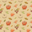 Stock Photo: Autumn watercolor seamless pattern