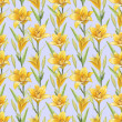 Vintage seamless pattern with lily flowers — Stock Photo