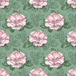 Watercolor pattern with rose illustration — Stock Photo #34565047