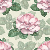 Watercolor seamless pattern with rose illustration — Stock Photo