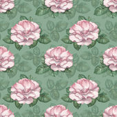 Watercolor pattern with rose illustration — Stock Photo