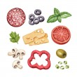 Watercolor illustration of food ingredients — Stock Photo #35958327