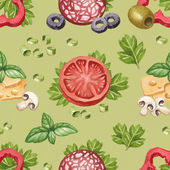 Seamless pattern with watercolor illustration of food ingredient — Stock Photo