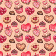 Valentine's Day illustrations collection. Seamless pattern — Stock Photo