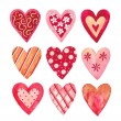Watercolor hearts collection for Valentine's day — Stock Photo #37133149