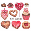 Valentine's Day illustrations collection — Stock Photo #37133211
