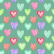 Watercolor seamless pattern for Valentine's day . Painted hearts — Stock Photo #37133317