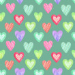 Watercolor seamless pattern for Valentine's day . Painted hearts — Stock Photo