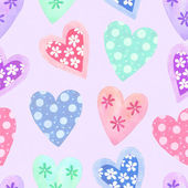 Watercolor seamless pattern for Valentine's day — Foto de Stock