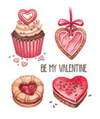 Valentine's Day illustrations collection — Stock fotografie