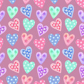 Watercolor seamless pattern for Valentine's day . Painted hearts — 图库照片