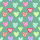 Watercolor seamless pattern for Valentine's day . Painted hearts — Stok fotoğraf