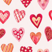 Watercolor seamless pattern for Valentine's day — Stock Photo