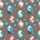 Easter eggs illustrations. Seamless pattern — Stock Photo