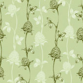 Seamless pattern with a clover drawing — Stock Photo