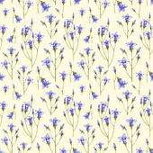 Bluebell flower illustration. Watercolor seamless pattern — Stock Photo