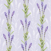 Lavender flower illustrations. Watercolor seamless pattern — Stock Photo