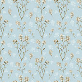 Forget me not flower drawings. Seamless pattern — Stock Photo