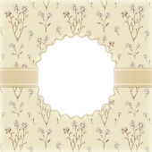 Artistic background with drawings of flowers. Perfect for invitations — Stock Photo
