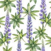 Wild lupine flowers pattern — Stock Photo